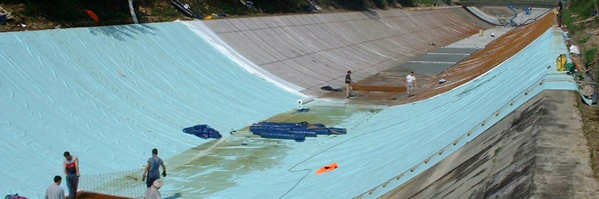 Impermeabilizzazione canale con manti in PVC
