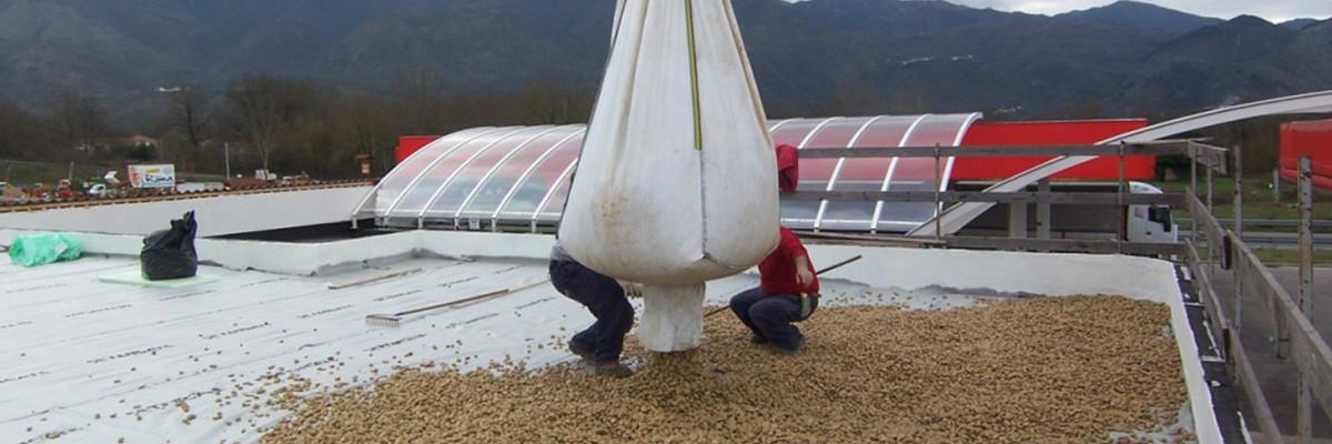Realizzazione tetto rovescio, impermeabilizzazione ed isolamento termico copertura piana zavorrata
